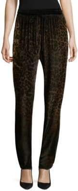 Elie Tahari Zuma Velvet Cheetah Pants