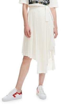Maje Pré Jaxy Pleated Asymmetrical Skirt
