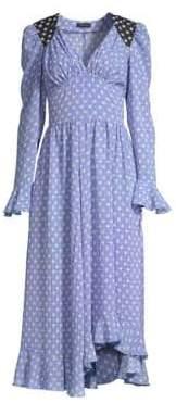Stine Goya Freesia Long Sleeve Star Midi Dress