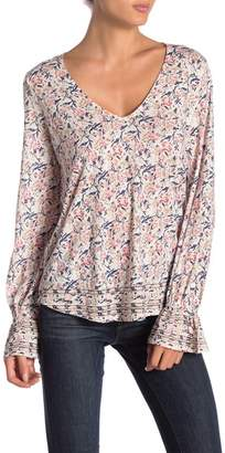 Lucky Brand Knit Bell Sleeve Top