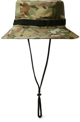 Nike Crye Precision Grosgrain-Trimmed Camouflage-Print Shell Bucket Hat - Green