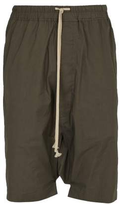 Rick Owens Pods Cotton Shorts - Mens - Dark Brown