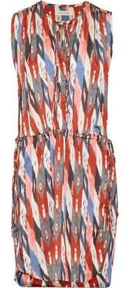 Etoile Isabel Marant Hollis Gathered Printed Crepe De Chine Mini Dress