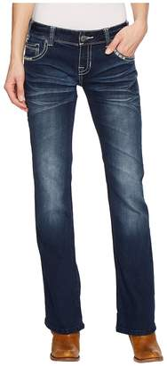 Rock and Roll Cowgirl Low Rise Bootcut in Dark Vintage W0-5071 Women's Jeans