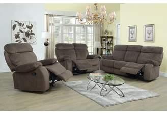 Winston Porter Evins Reclining 3 Piece Living Room Set