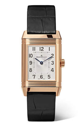 Jaeger-LeCoultre Reverso Classic Duetto Small 21mm Rose Gold, Diamond And Alligator Watch