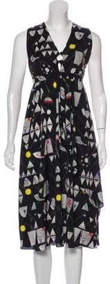 Mara Hoffman V-Neck Sleeveless Dress