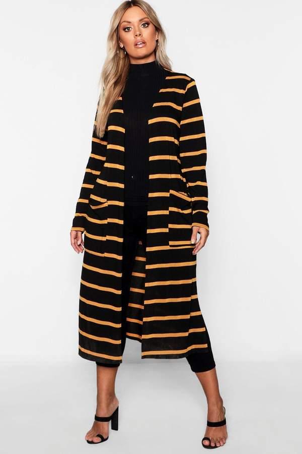 Plus Stripe Cardigan