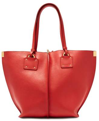 Chloé Vick Leather Tote - Womens - Red