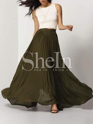 Shein Pleated Full Length Skirt