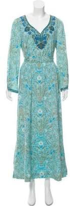 Tory Burch Cassandra Embellished Maxi Dress