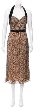 L'Wren Scott Velvet-Accented Lace Dress w/ Tags