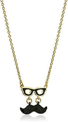Kate Spade Mustache Mini -Colored Pendant Necklace