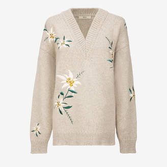 Bally Edelweiss Embroidered sweater