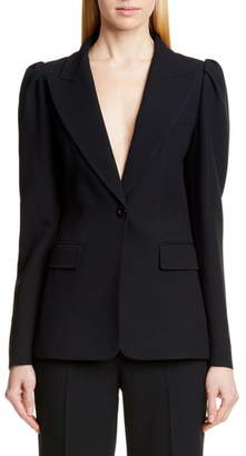 Michael Kors Collection Puff Sleeve Blazer