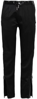 Marques Almeida Marques' Almeida Zip-detailed Wool-sateen Straight-leg Pants