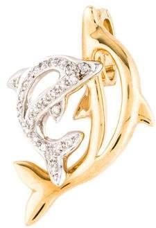 18K Diamond Dolphin Pendant