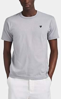 Comme des Garcons Men's Heart Cotton T-Shirt - Gray