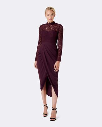 Forever New Larissa Lace Drape Maxi Dress