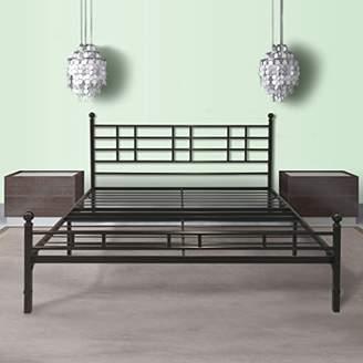 "Best Price Mattress Twin XL Bed Frame - 12"" Metal Platform Bed Frame [Model H] Easy Setup w/Headboard (No Box Spring Needed)"