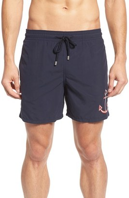 Men's Vilebrequin Embroidered Anchor Swim Trunks $290 thestylecure.com