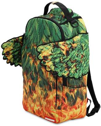Sprayground Leaf Wing Printed Backpack