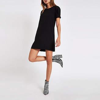 River Island Black short sleeve swing dress