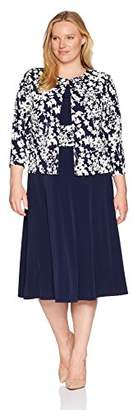 Jessica Howard Plus Size Womens Swing Jacket Dress