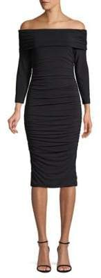 Elie Tahari Naomie Knit Off-The-Shoulder Bodycon Dress