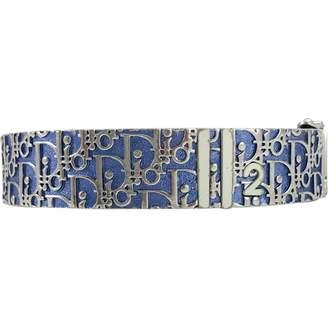 Christian Dior Vintage Blue Metal Bracelets