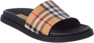 Burberry Vintage Check & Leather Slide