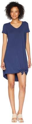 Mod-o-doc Cotton Modal Spandex Jersey Easy T-Shirt Dress with Tie Hem Women's Dress