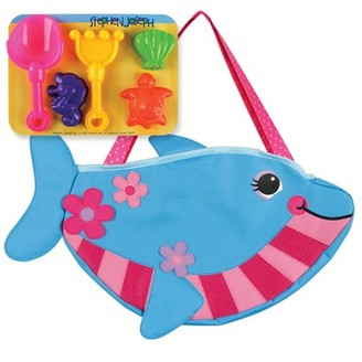 Stephen Joseph Beach Totes W/Sand Toy Play Set, Dolphin
