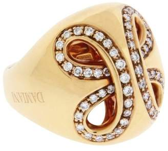 Damiani Ruban 18K Rose Gold & 0.65ct. Diamond Ring Size 7.25