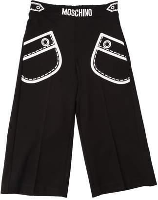 Moschino Printed Milano Jersey Wide Leg Pants