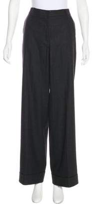 TSE Virgin Wool-Blend Mid-Rise Pants