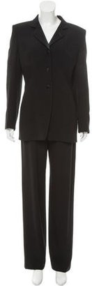 Giorgio Armani Wool-Blend Structured Pantsuit $175 thestylecure.com