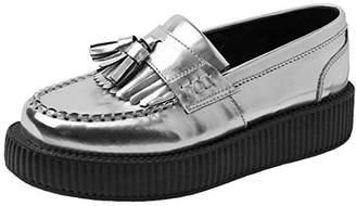 T.U.K. Women's Metallic Loafer Creeper Slip-On Loafer