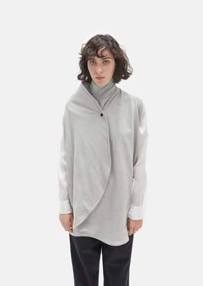 Ovelia Transtoto Cornu Jersey Sleeveless Top Grey