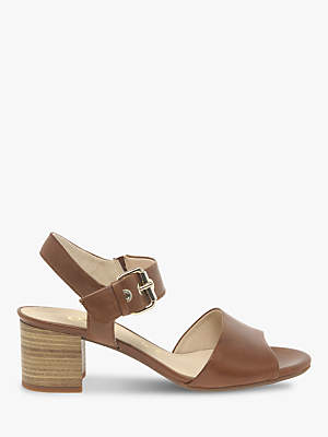 Gabor Brace Wide Fit Block Heel Strap Sandals