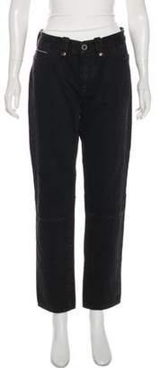 Taverniti So Ben Unravel Project x Barneys Mid-Rise Straight-Leg Jeans
