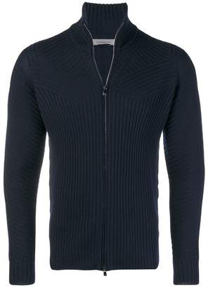 Corneliani zip front cardigan
