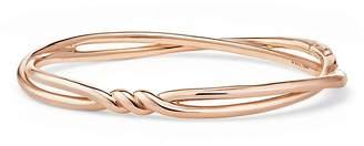 David Yurman Continuance Center Twist Bracelet in 18K Rose Gold