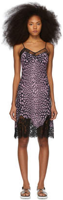 McQ Pink Animal Print Slip Dress