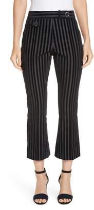 Derek Lam 10 Crosby Tab Detail Crop Flare Trousers