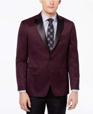 Ryan Seacrest Distinction Ryan Seacrest DistinctionTM Men's Modern-Fit Burgundy Textured Dinner Jacket, Created for Macy's