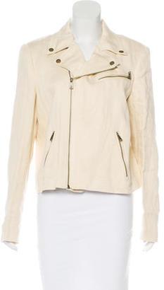 Lauren Ralph Lauren Linen Moto Jacket w/ Tags $125 thestylecure.com