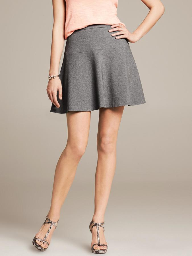 Banana Republic Ponte Fit-and-Flare Skirt