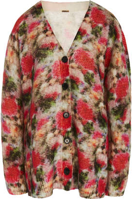 ADAM by Adam Lippes Printed Oversized Cashmere-Silk Blend Cardigan