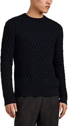 Theory Men's Marcos Textured-Knit Merino Wool Sweater - Navy